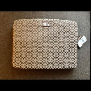 Coach Sig. Collection laptop sleeve & padfolio